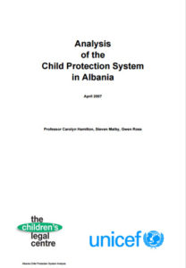 Analysis of the Child Protection System in Albania