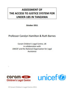 Assessment of the Access to Justice System for Under-18s in Tanzania