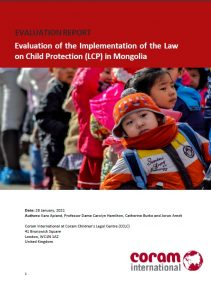 Evaluation of the Implementation of the Law on Child Protection (LCP) in Mongolia