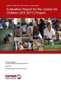 Evaluation Report for the Justice for Children (IPA 2011) Project