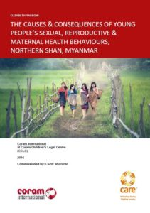 Causes & consequences of young people's SRMH behaviours, Myanmar