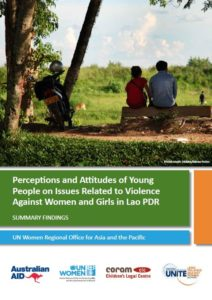 Perception and Attitudes of Young People on Issues Related to Violence against Women and Girls in Lao PDR