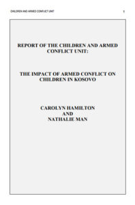 The Impact of Armed Conflict on Children in Kosovo