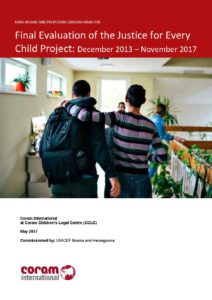 Final Evaluation of the Justice for Every Child Project
